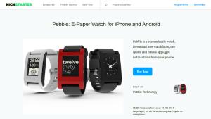 Kickstarter-Kampagne Pebble