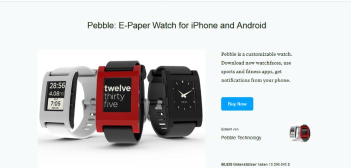 Pebble Kickstarter-Kampagne