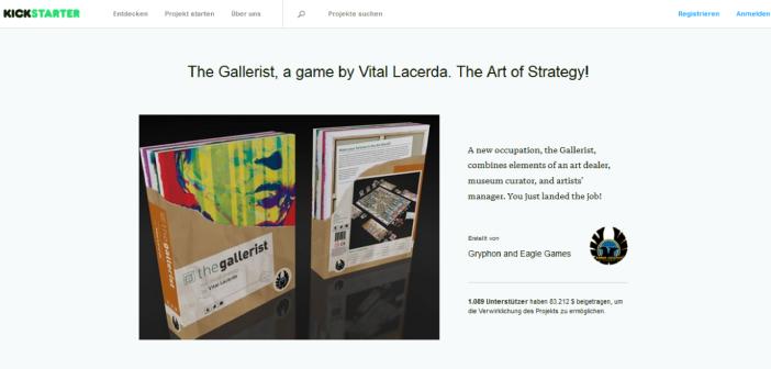 The Gallerist Kickstarter
