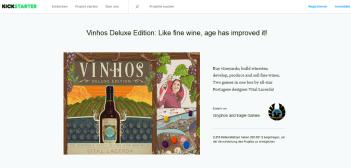 Vinhos Deluxe Edition Kickstarter